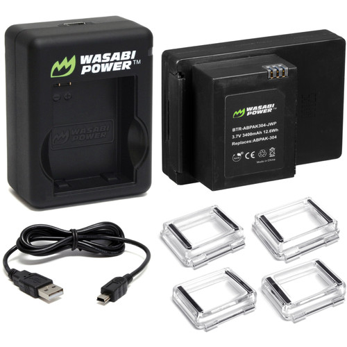 Wasabi Power Extended Battery for GoPro HERO3/3+ with Dual Charger and Backdoors