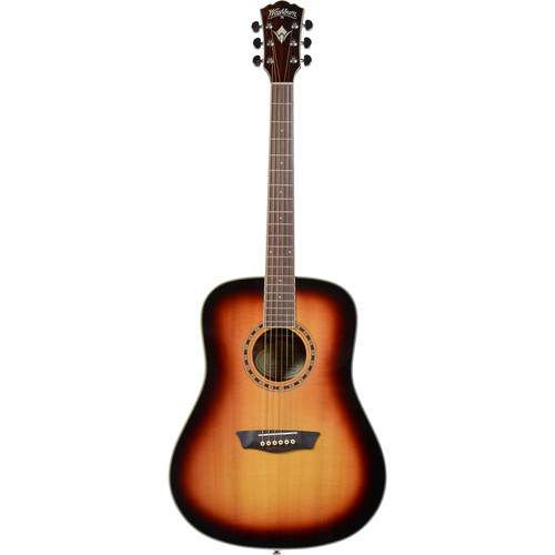 Washburn Heritage 10 Series WD10SATB Acoustic Guitar (Tobacco Burst)