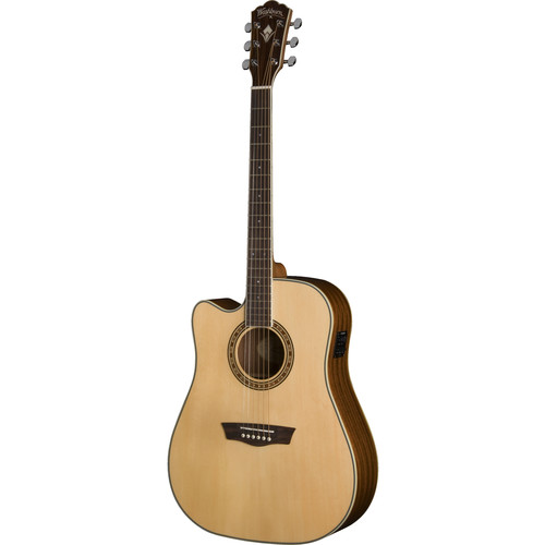 Washburn Heritage 10 Series WD10SCELH Acoustic/Electric Guitar (Natural,&nbspLeft-Handed)