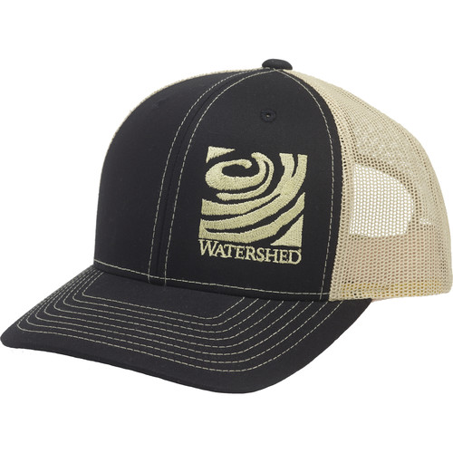 WATERSHED Mesh-Back Cap (Black/Gold)
