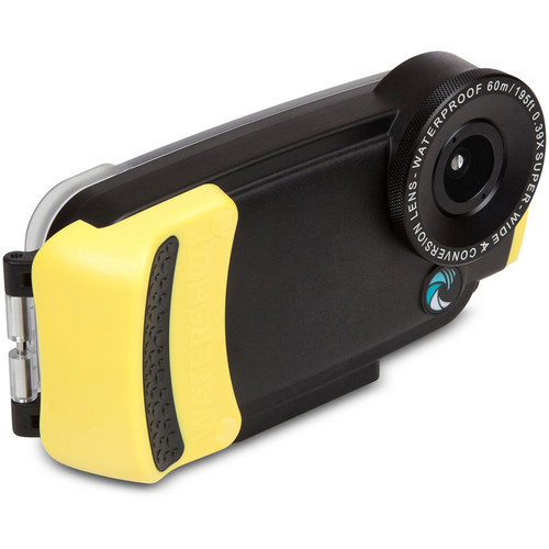 Watershot WSIP6-012 PRO Line Underwater Housing for iPhone 6/6s with Flat Angle Lens Port (Black/Yellow)