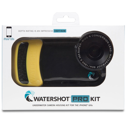 Watershot WSIP6-022 PRO Line Underwater Housing for iPhone 6/6s with Flat Angle Lens Port (Black/Yellow)