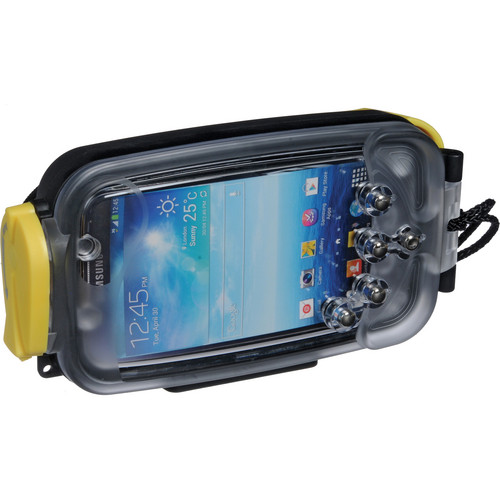 Watershot Underwater Housing for Samsung Galaxy S4 (Black with Yellow Highlights)