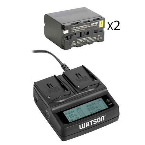 Watson NP-F975 Two-Battery Kit with Duo LCD Charger