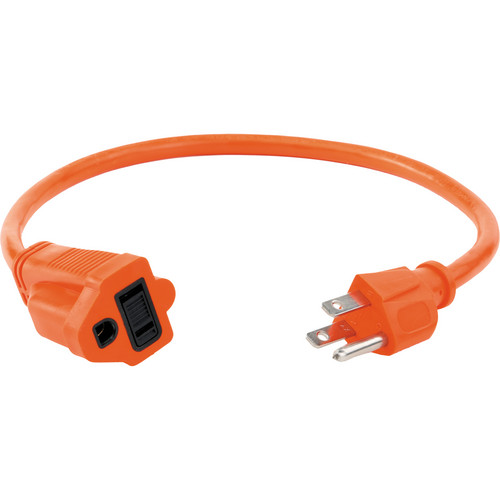 Watson 1.5 ft AC Power Extension Cord 16 AWG (Orange)