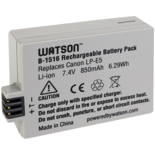 Watson LP-E5 Lithium-Ion Battery Pack (7.4V, 850mAh)