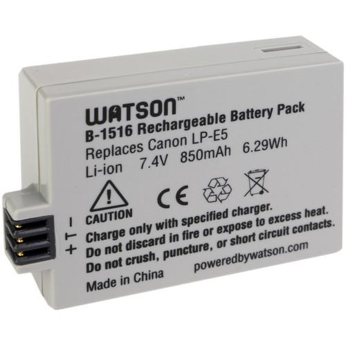 Watson LP-E5 Lithium-Ion Battery Pack (7.4V, 850mAh)