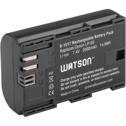 Watson LP-E6 Lithium-Ion Battery Pack (7.4V, 2000mAh)