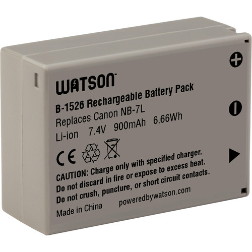 Watson NB-7L Lithium-Ion Battery Pack (7.4V, 900mAh)