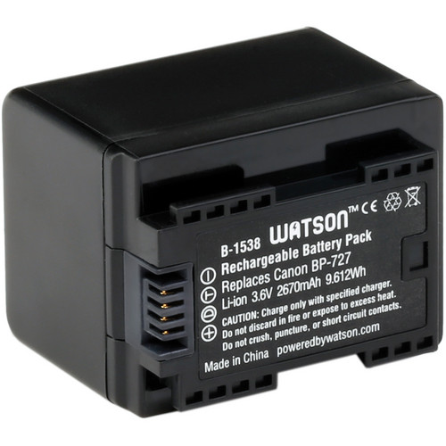 Watson BP-727 Lithium-Ion Battery Pack (3.6V, 2670mAh)