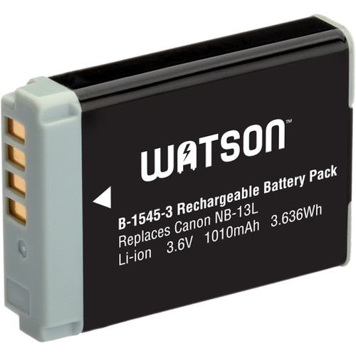 Watson NB-13L V3 Lithium-Ion Battery Pack (3.6V, 1010mAh)