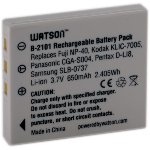 Watson NP-40 Lithium-Ion Battery Pack (3.7V, 650mAh)