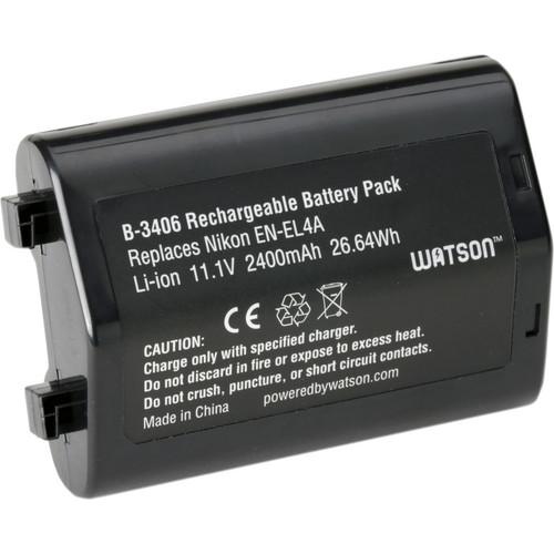 Watson EN-EL4A Lithium-Ion Battery Pack (11.1V, 2400mAh)