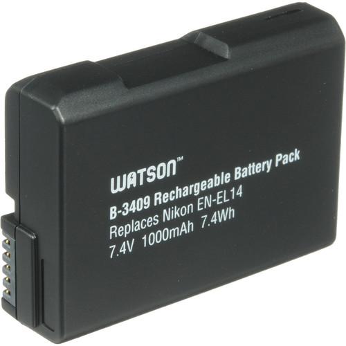 Watson EN-EL14 Lithium-Ion Battery Pack (7.4V, 1000mAh)