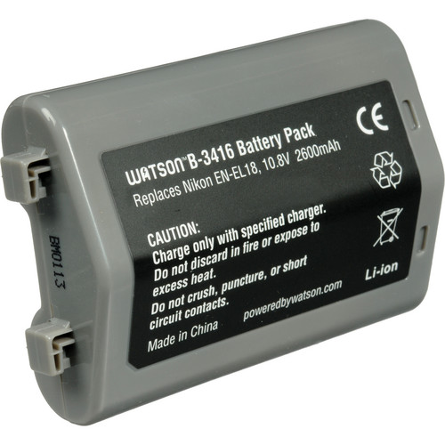 Watson EN-EL18 Lithium-Ion Battery Pack (10.8V, 2600mAh)