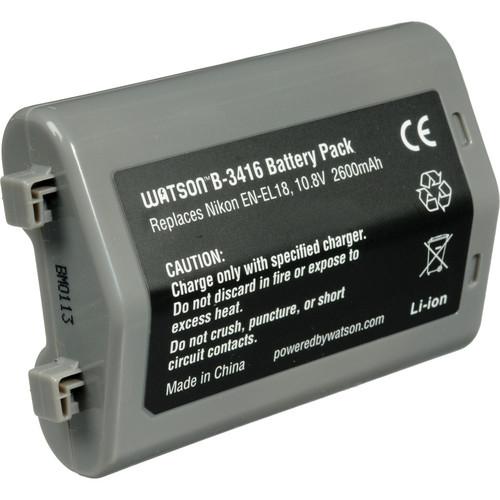 Watson EN-EL18 Lithium-Ion Battery Pack (10.8V, 2600mAh)