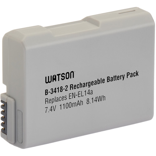 Watson EN-EL14A V2 Lithium-Ion Battery Pack (7.4V, 1100mAh)