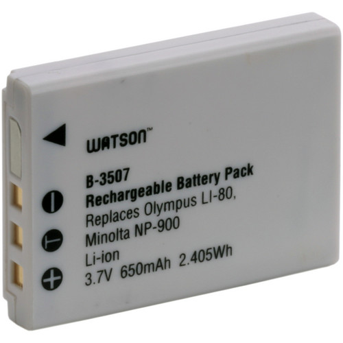 Watson LI-80B / NP-900 Lithium-Ion Battery Pack (3.7V, 650mAh)