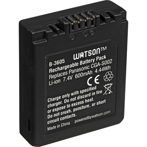 Watson CGA-S002 Lithium-Ion Battery Pack (7.4V, 600mAh)