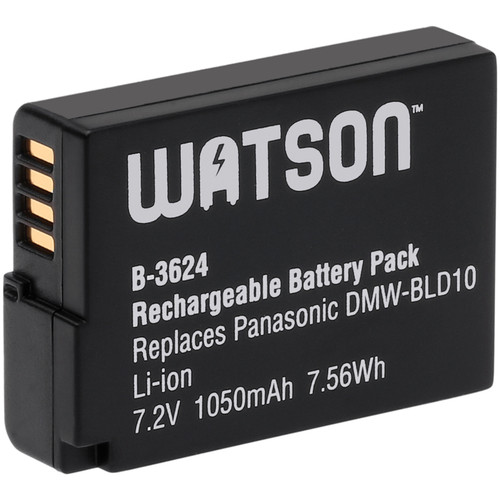 Watson DMW-BLD10 Lithium-Ion Battery Pack (7.2V, 1050mAh)