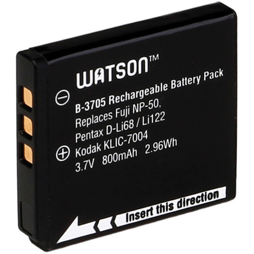 Watson D-Li68 / NP-50 / KLIC-7004 Lithium-Ion Battery Pack (3.7V, 800mAh)