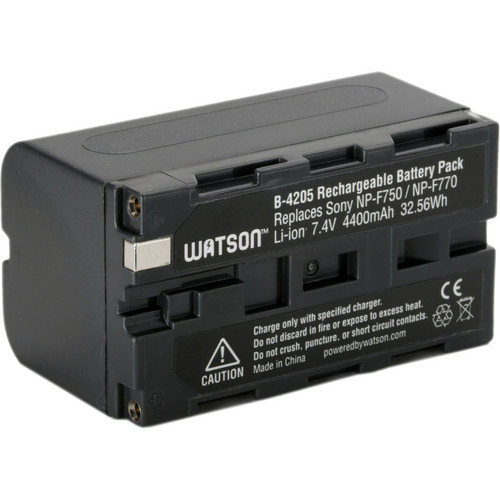 Watson NP-F770 Lithium-Ion Battery Pack (7.4V, 4400mAh)