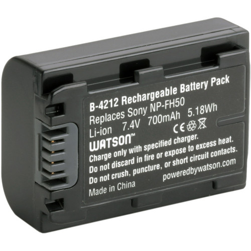 Watson NP-FH50 Lithium-Ion Battery Pack (7.4V, 700mAh)