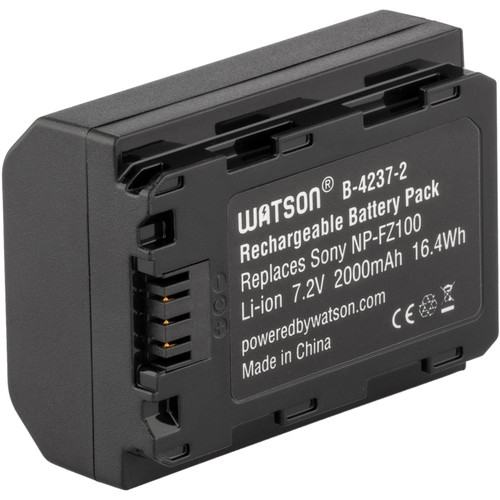 Watson NP-FZ100 V2 Lithium-Ion Battery Pack (7.2V, 2000mAh, 16.4Wh)