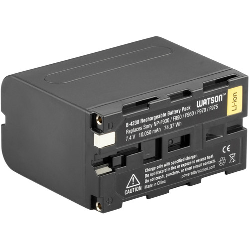 Watson NP-F970 High-Capacity Lithium-Ion Battery Pack (7.4V, 10,050mAh)