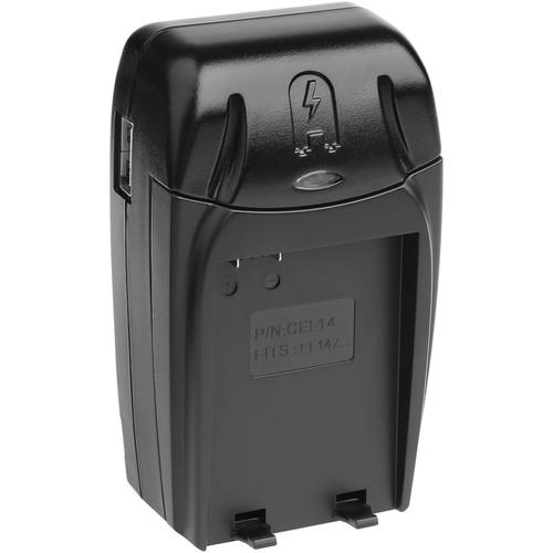Watson Compact AC/DC Charger for EN-EL14 or EN-EL14A Battery