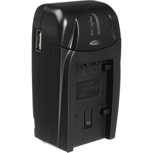 Watson Compact AC/DC Charger for For Panasonic VW-VBK, VW-VBL & VBT Batteries