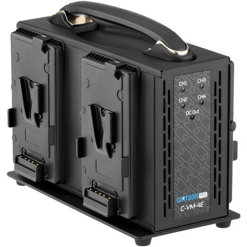 Watson Pro Quad Position Li-Ion Simultaneous Battery Charger (V-Mount)