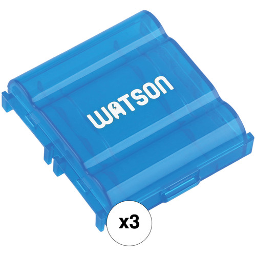 Watson Case for 4 AA or AAA Batteries (3-Pack Blue)