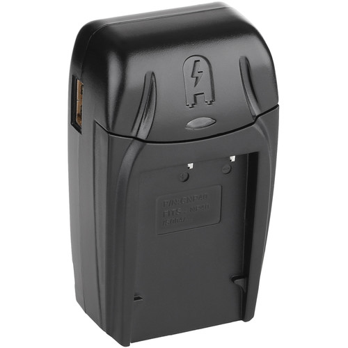 Watson Compact AC/DC Charger Kit with Battery Adapter Plate for NP-40, KLIC-7005, or D-Li85