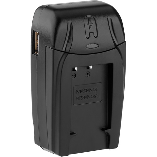 Watson Compact AC/DC Charger Kit with Battery Adapter Plate for NP-48