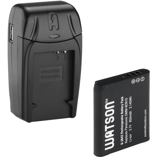 Watson Compact AC/DC Charger Kit with DMW-BCN10 Lithium-Ion Battery Pack