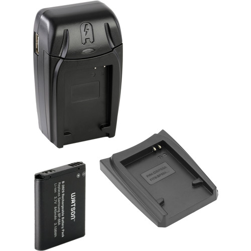 Watson Compact AC/DC Charger Kit with BP-88A Li-Ion Battery and Extra Adapter Plate