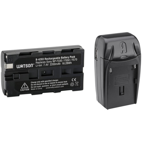 Watson Compact AC/DC Charger Kit with 2200mAh NP-F550 Battery