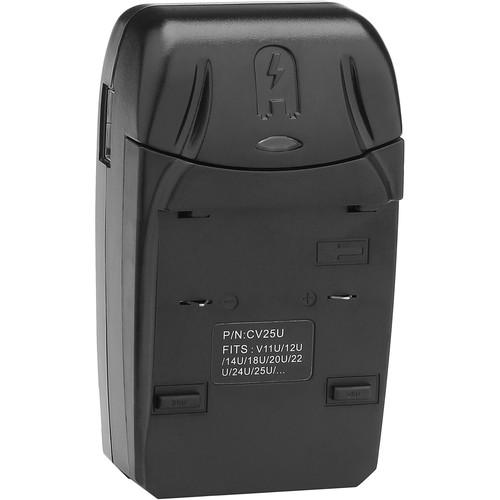 Watson Compact Charger & Battery Plate Kit for JVC BN-V11, BN-V12, BN-V20, and BN-V25