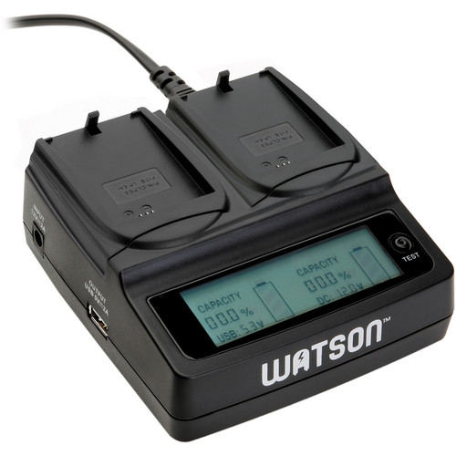 Watson Duo LCD Charger with 2 LP-E5 Battery Plates