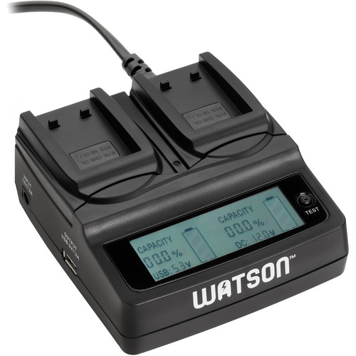 Watson Duo LCD Charger with Two NB-13L Battery Plates