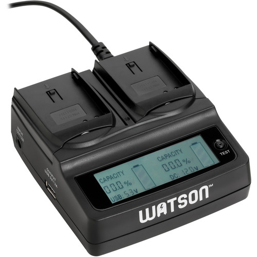 Watson Duo LCD Charger with 2 EN-EL15 Battery Plates