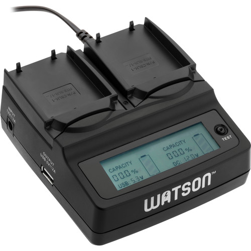 Watson Duo LCD Charger with Two BLH-1 Battery Plates