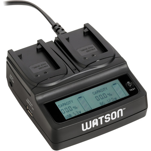 Watson Duo LCD Charger with Two NP-BX1 Battery Plates
