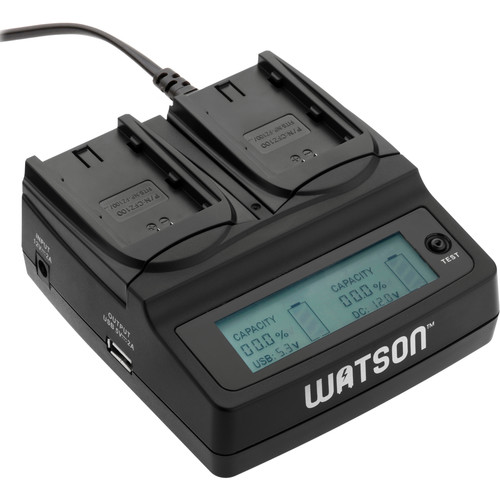 Watson Duo LCD Charger with Two NP-FZ100 Battery Plates