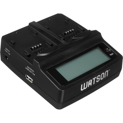 Watson Duo LCD Battery Charger Kit with 2 Battery Adapter Plates for NP-95 and DB-90