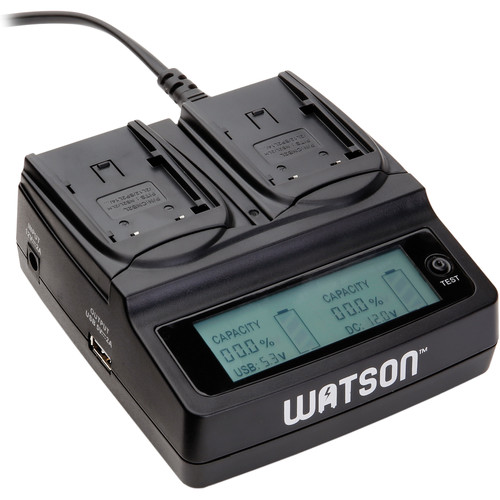 Watson Duo LCD Charger Kit with 2 Battery Adapter Plates for BP-2L14, NB-2L or NB-2LH