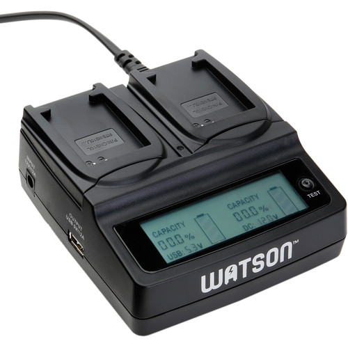 Watson Duo LCD Charger Kit with 2 Battery Adapter Plates for NB-10L
