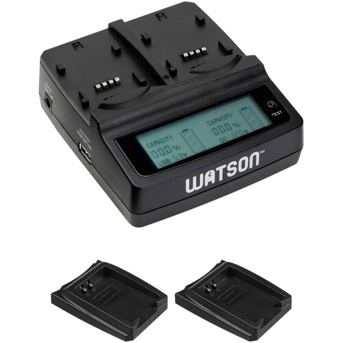 Watson Duo LCD Charger Kit with 2 LP-E12 Battery Adapter Plates