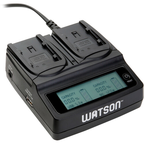 Watson Duo LCD Charger for Canon BP-800 Series Batteries